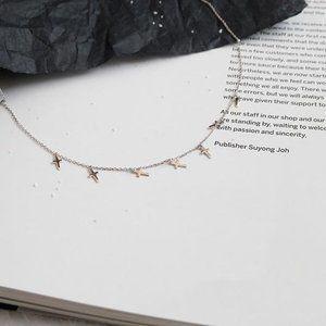 NEW 925 Sterling Silver Cross Tassel Necklace